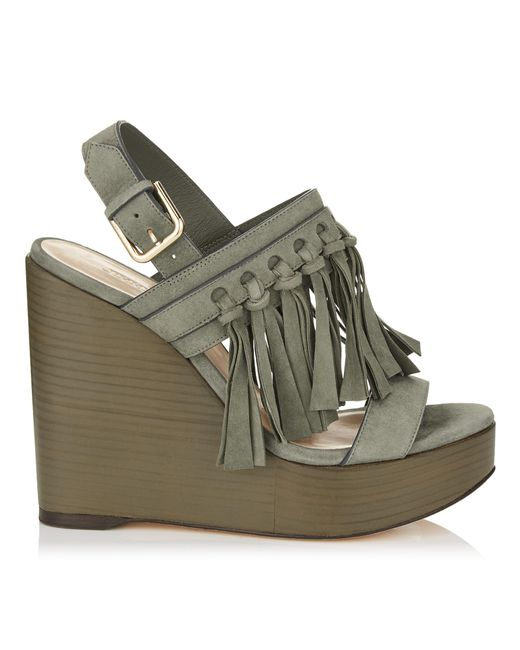 Jimmy Choo | Green Nya 120 | Lyst