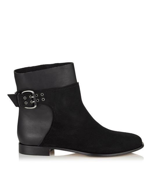 jimmy choo major flat ankle boots calf