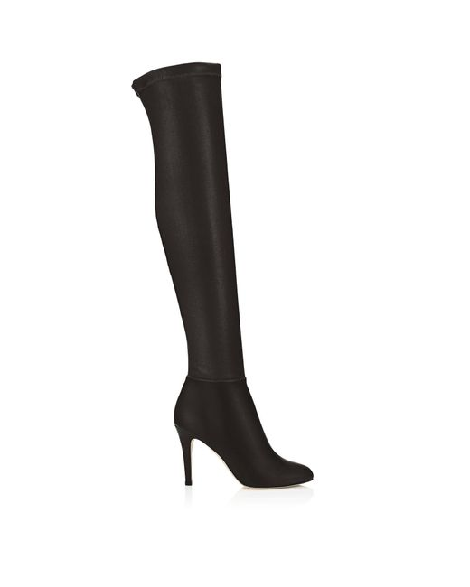 Jimmy Choo - Black Toni Leather Over-The-Knee Boots - Lyst