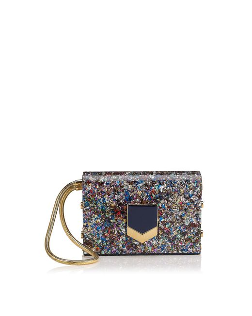 Jimmy Choo | Blue Lockett Minaudiere | Lyst