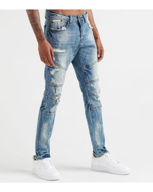 Heritage Blue 5 Pkt Jean W/bleach Spots for men