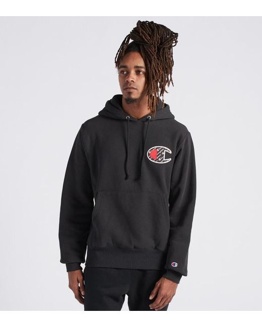 Champion - Black Reverse Weave Hoodie Sublimated for Men - Lyst