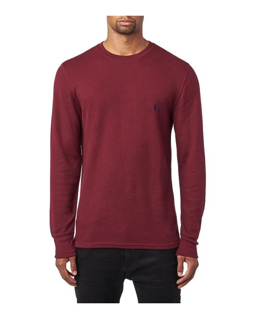 Polo Ralph Lauren - Red Long Sleeve Crew Thermal for Men - Lyst