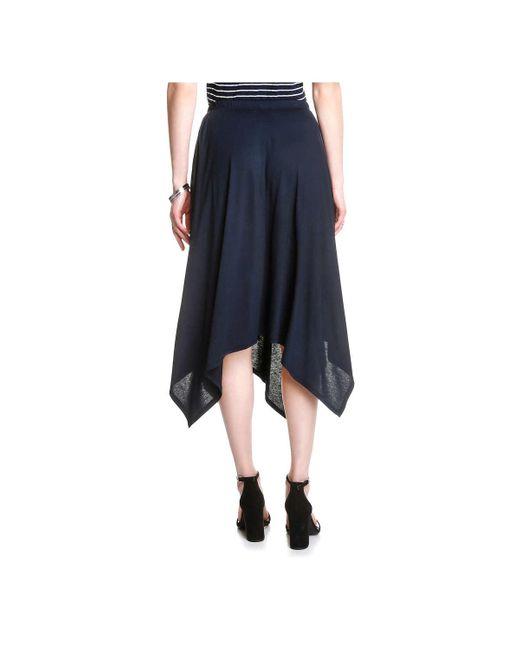 joe fresh handkerchief skirt in blue lyst