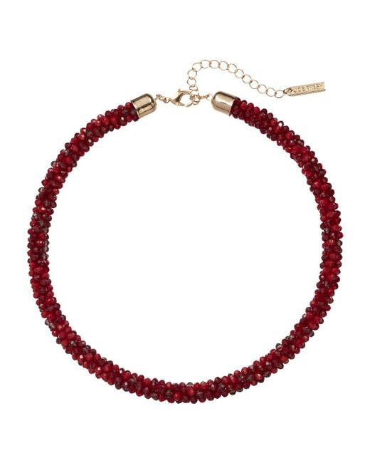 Joe Fresh | Red Beaded Tube Necklace | Lyst