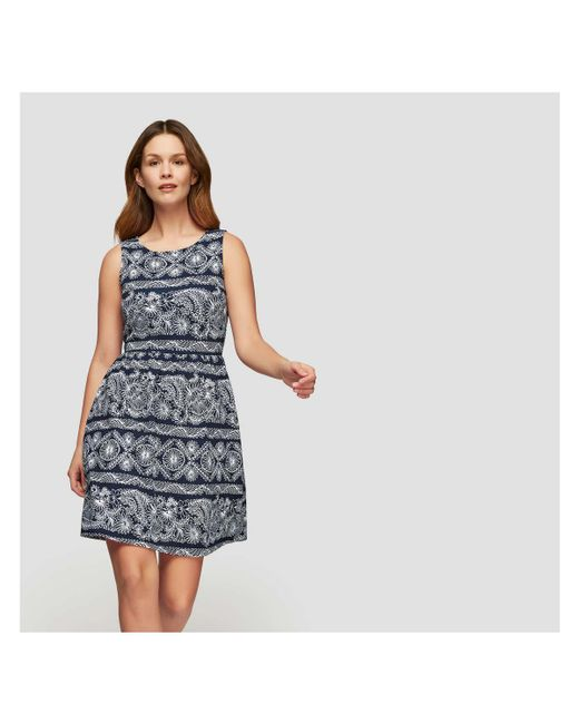 Joe Fresh - Blue Print Sleeveless Dress - Lyst