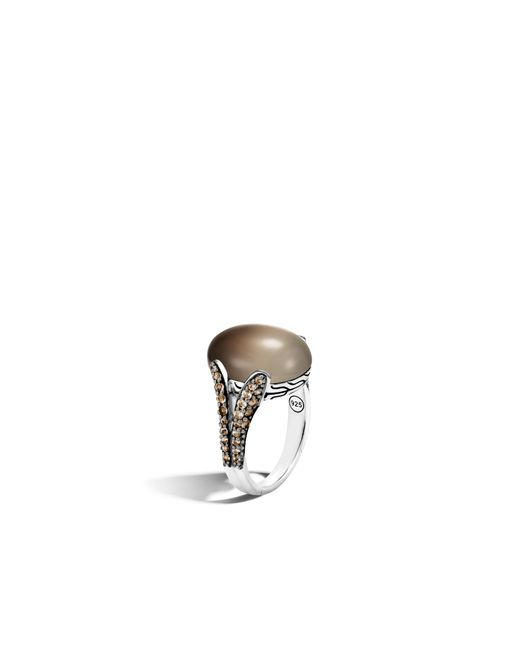 John Hardy | Metallic Celestial Orb Ring With Bicolor Smoky Quartz | Lyst