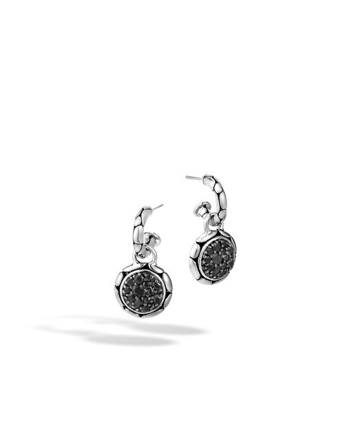 John Hardy | Extra Small Drop Earring With Black Sapphire | Lyst