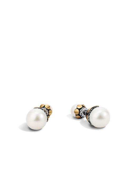 John Hardy | White Reversible Stud Earring With Pearl | Lyst