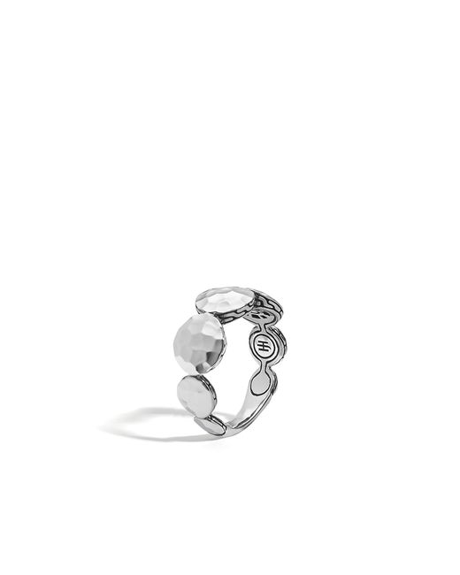 John Hardy | Metallic Hammered Band Ring | Lyst