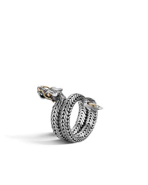John Hardy | Metallic Naga Coil Ring | Lyst