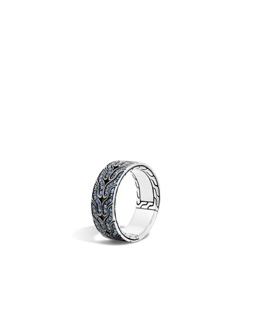 John Hardy | Classic Chain Band Ring With Blue Sapphire for Men | Lyst