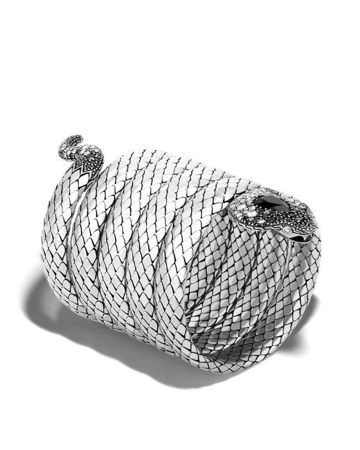 John Hardy   Metallic Cobra Multiple Coil Bracelet With Black Chalcedony   Lyst