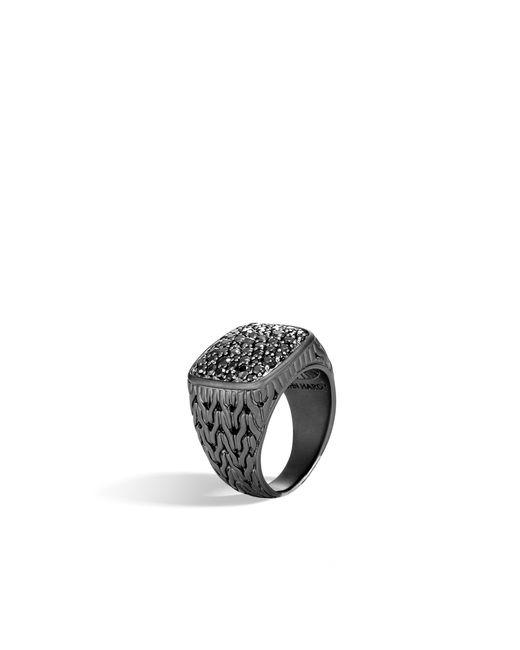 John Hardy - Black Rhodium Signet Ring for Men - Lyst