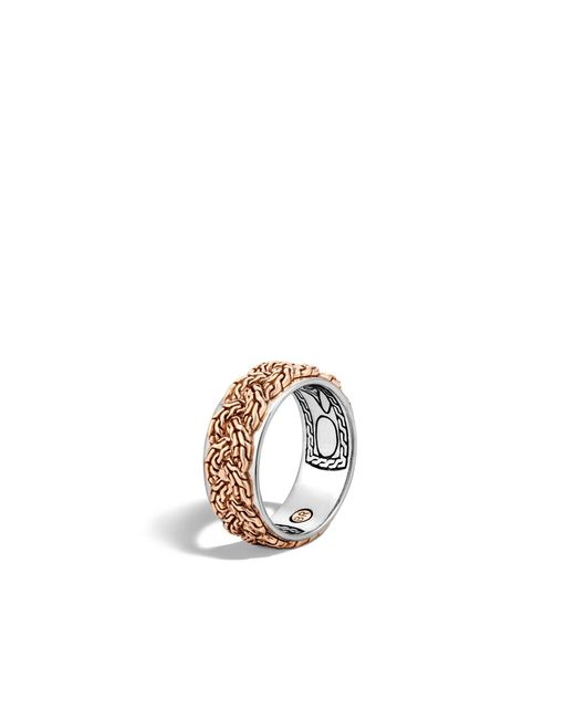 John Hardy | Metallic Braided Chain Band Ring for Men | Lyst