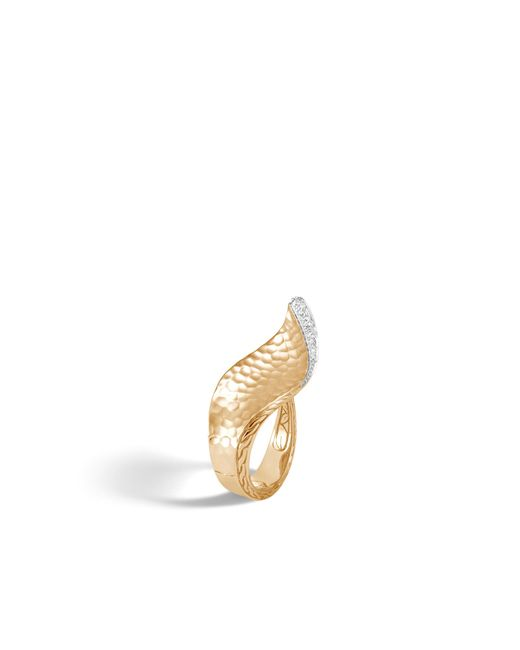 John Hardy - Multicolor Wave Hammered Ring With Diamonds - Lyst