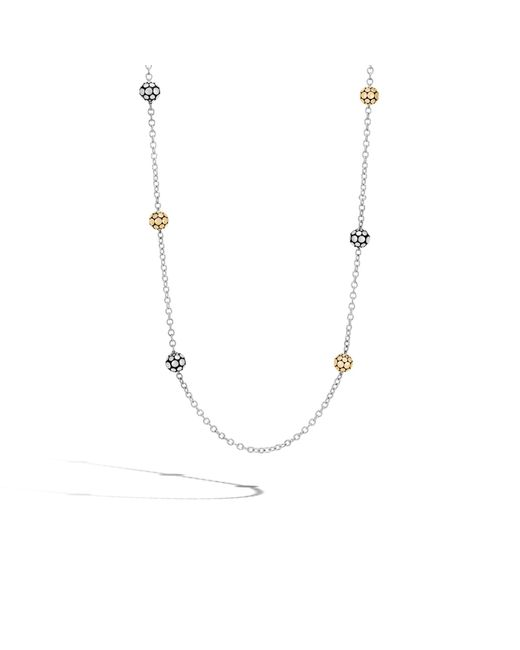 John Hardy   Metallic Station Necklace   Lyst