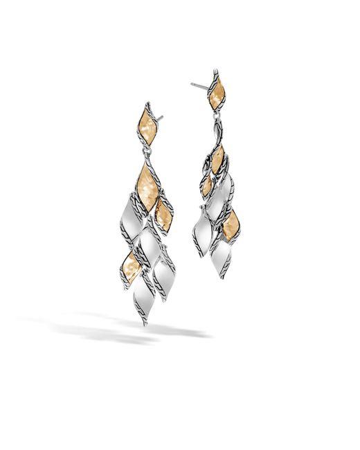 Lyst john hardy wave hammered chandelier earring john hardy multicolor wave hammered chandelier earring lyst aloadofball Images