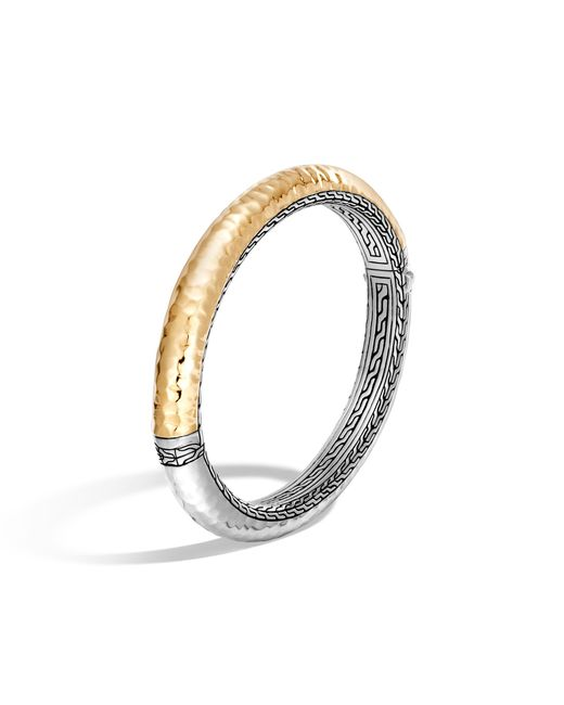 John Hardy - Metallic Classic Chain Hammered Hinged Bangle - Lyst