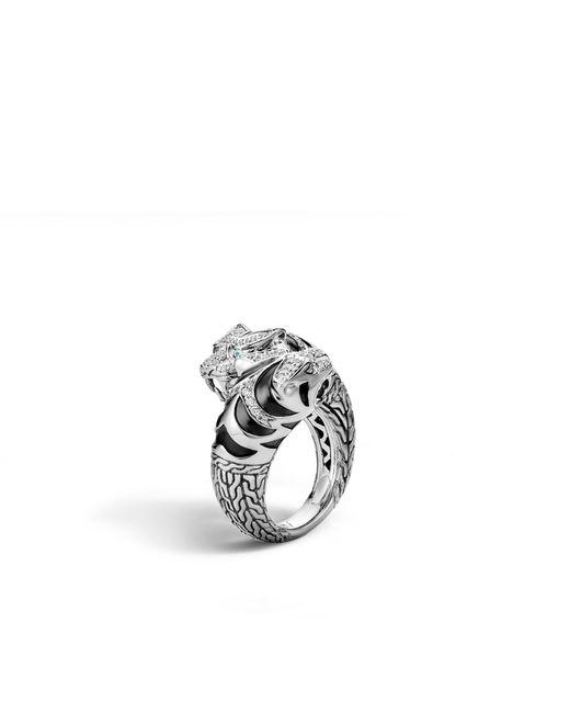 John Hardy | Metallic Macan Double Head Bypass Ring With Diamonds | Lyst