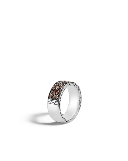 John Hardy - Multicolor Classic Chain Band Ring With Smoky Quartz - Lyst