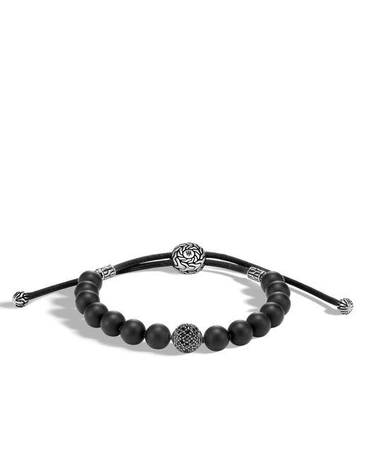 John Hardy | Classic Chain Bead Bracelet With Black Onyx, Black Sapphire for Men | Lyst