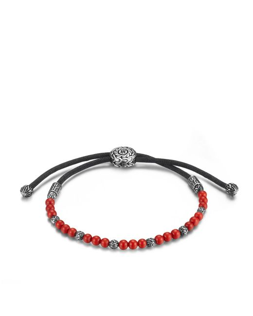 John Hardy - Classic Chain Bead Bracelet With Red Coral - Lyst