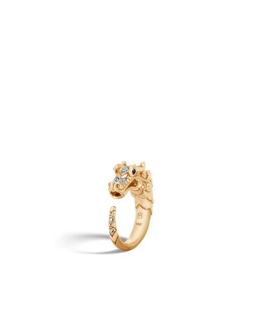 John Hardy - Metallic Naga Brushed Ring With Diamonds - Lyst