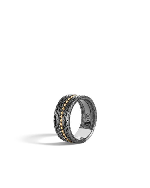 John Hardy - Multicolor Jawan Blackened Band Ring for Men - Lyst