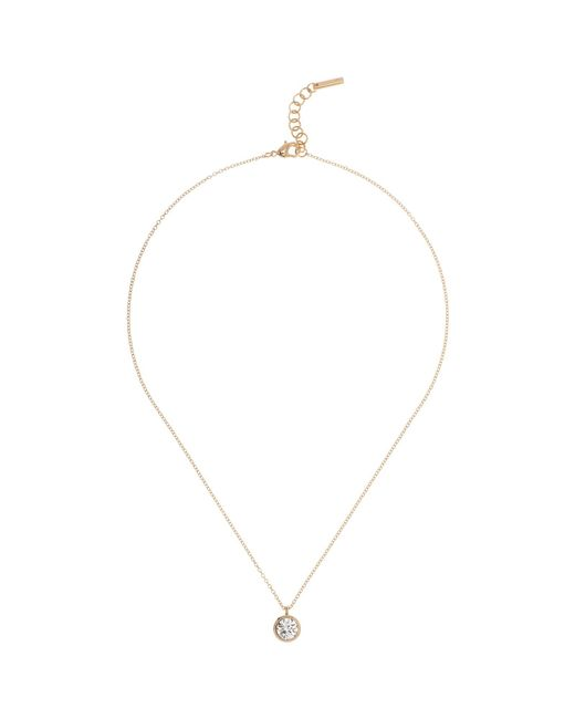 Karen Millen | Metallic Swarovski Crystal Dot Pendant Necklace | Lyst
