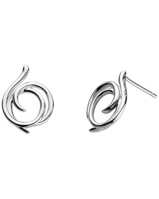 Kit Heath - Metallic Sterling Silver Large Helix Wrap Stud Earrings - Lyst