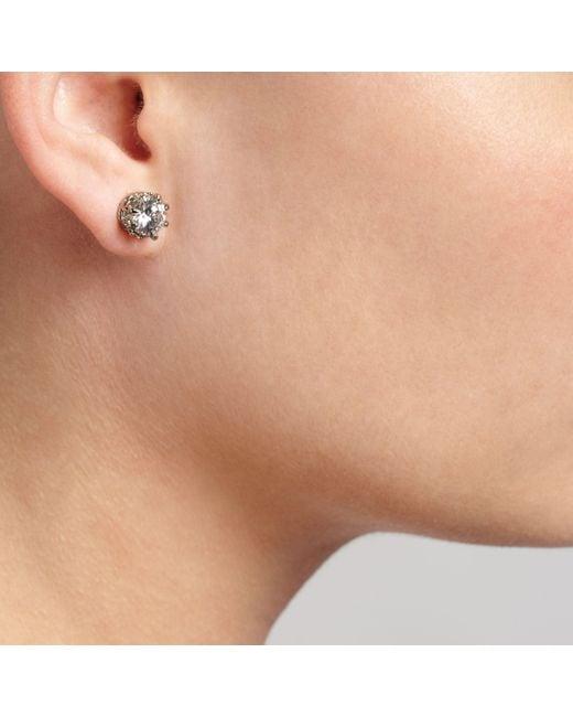 John Lewis - Metallic Large Cubic Zirconia Stud Earrings - Lyst