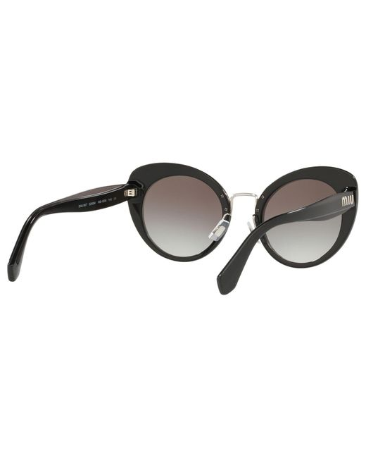 bbe0f757a8 Miu Miu Mu 06ts Women s Cat s Eye Sunglasses in Black - Lyst