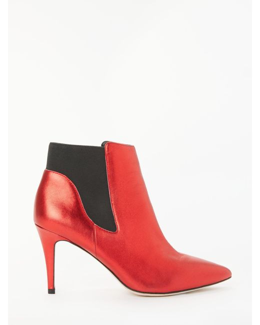 3f6ef796948 Boden Astell Stiletto Heel Ankle Boots in Red - Save 25% - Lyst