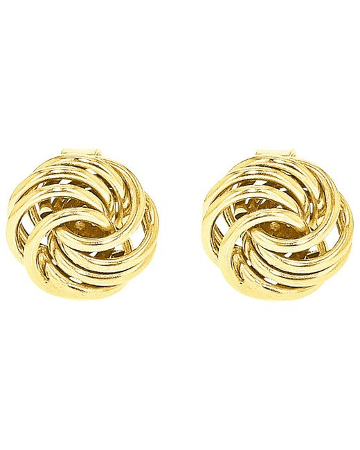 Ib&b - Metallic 9ct Gold Mini Rose Stud Earrings - Lyst