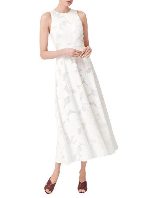 L.K.Bennett | Carrie White Viscose Mix Dress | Lyst