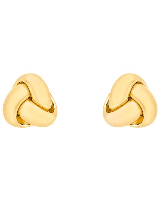 Ib&b - 18ct Yellow Gold Knot Stud Earrings - Lyst
