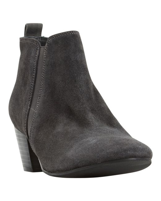 Dune | Black Perdy Suede Ankle Boot | Lyst