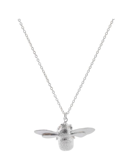 Alex Monroe | Metallic Sterling Silver Bumble Bee Pendant Necklace | Lyst