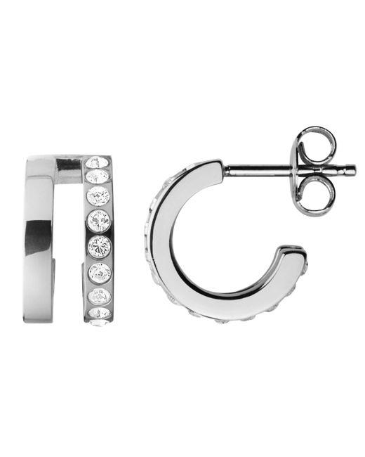 Dyrberg/Kern - Metallic Swarovski Crystal Hoop Earrings - Lyst