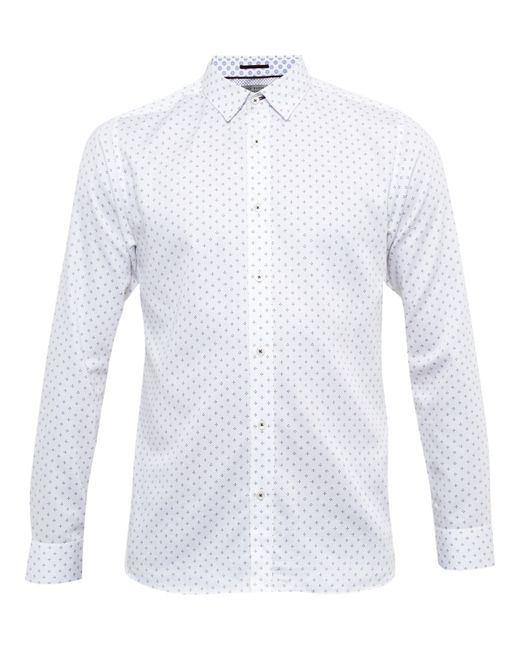Ted Baker | White Sobossy Cotton Shirt for Men | Lyst