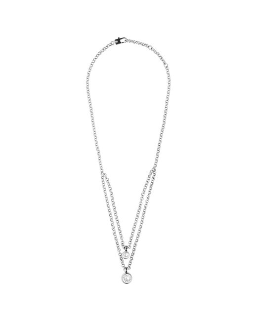 Dyrberg/Kern | Metallic Dyrberg/kern Swarovski Crystal Double Row Necklace | Lyst