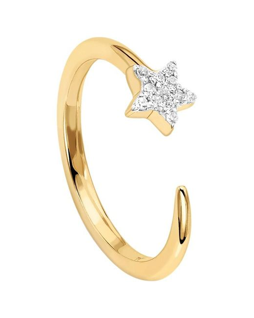 Missoma | Metallic 18ct Gold Vermeil Cosmic Nova Pave Star Ring | Lyst