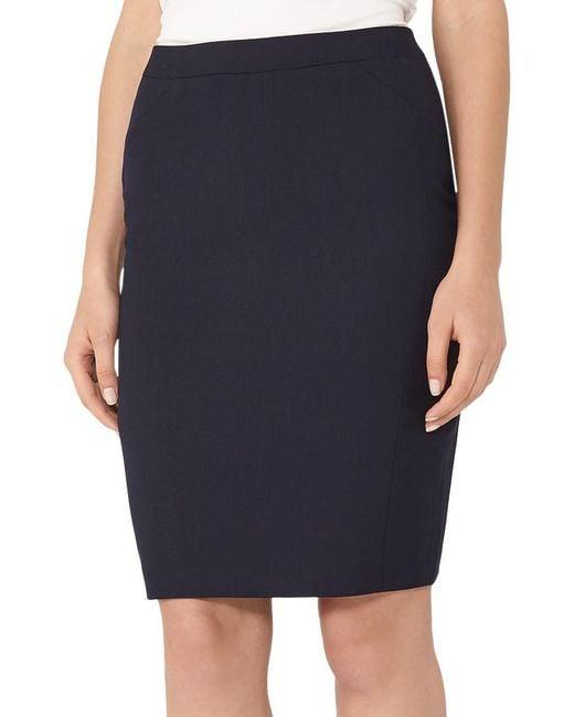 Reiss | Blue Faulkner Tailored Skirt | Lyst