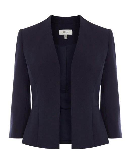 Coast | Blue Deandra Short Peplum Jacket | Lyst