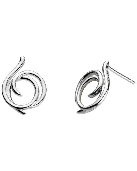 Kit Heath | Metallic Sterling Silver Large Helix Wrap Stud Earrings | Lyst