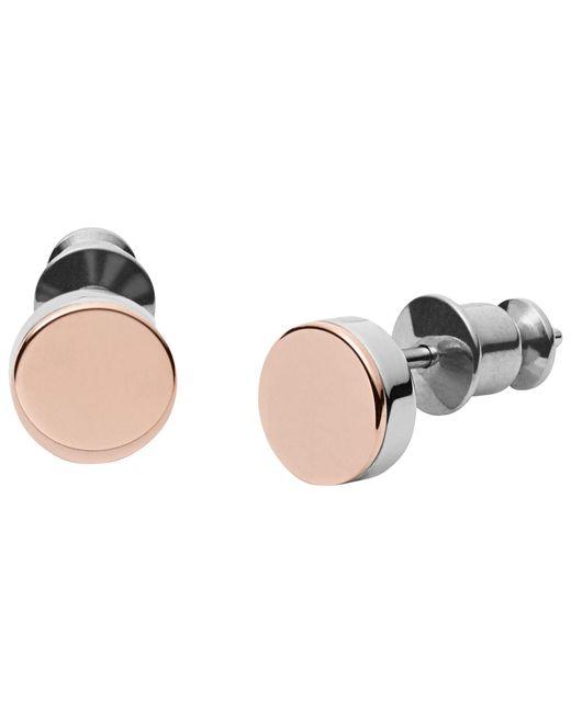 Skagen - Metallic Elin Round Stud Earrings - Lyst
