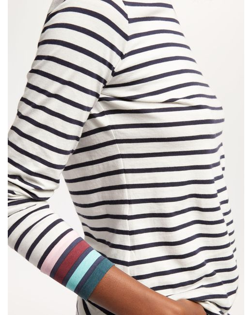 dfdfd62fe1 ... Boden - Multicolor Long Sleeve Breton Top - Lyst ...