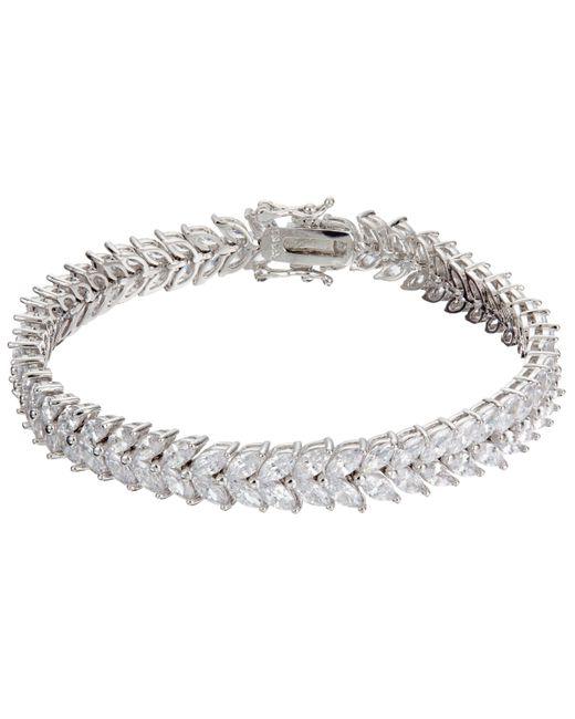 Ivory & Co. - Metallic Icon Marquise Cubic Zirconia Bracelet - Lyst