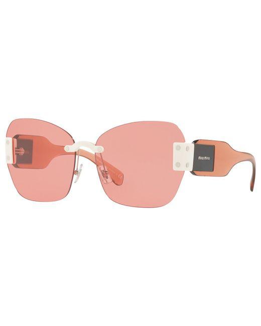 Miu Miu | Pink Mu 08ss Oversize Cat's Eye Sunglasses | Lyst